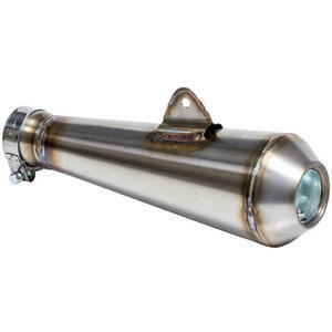 Exhaust muffler Megaton TIG stainless steel 45mm high mounting