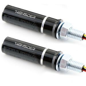 Led winkers Highsider Conero black smoked pair