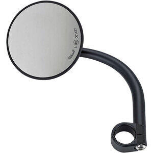 Specchietto retrovisore bar-end Biltwell Round 22mm lungo nero