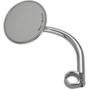 Specchietto retrovisore bar-end Biltwell Round 22mm lungo cromo