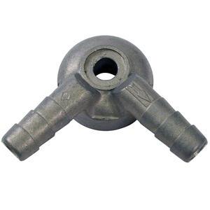 Raccordo tubo benzina carburatore Dell'Orto 8mm doppio alluminio