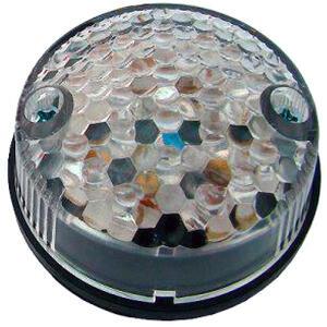 Led tail light Round Classic transparent