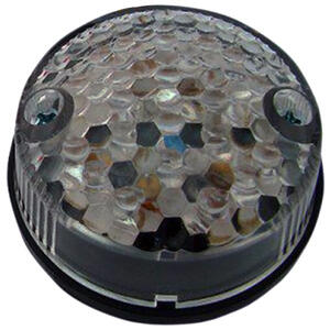Led tail light Round Classic smoked lens