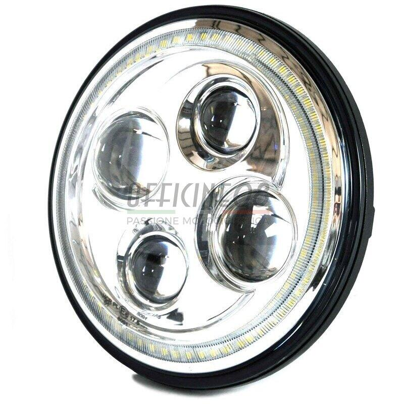 Faro anteriore 7'' Cafe Racer full led