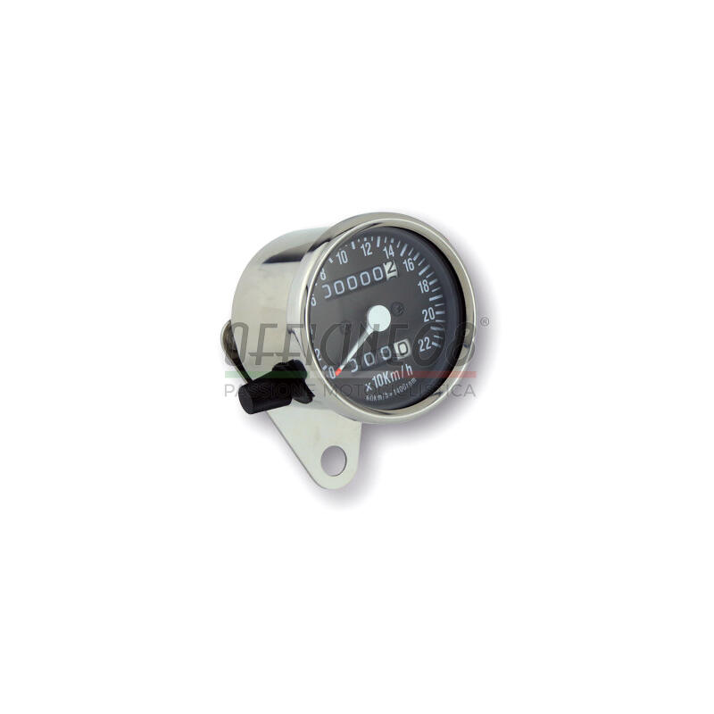 Mechanical speedometer Classic K=1.4 body chrome dial black