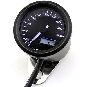 Contachilometri elettronico Daytona48 200Km/h nero