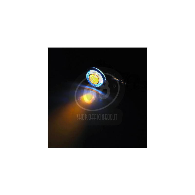 Coppia frecce led Highsider Apollo Classic nero con luce posizione fumè - Foto 2