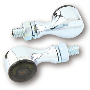Led winkers Highsider Apollo Classic chrome position light combo smoked pair
