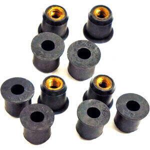 Dado elastico per carenature M6x17mm set 10pz