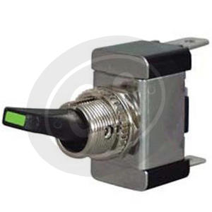 Switch to screw on-off with lever & green control light