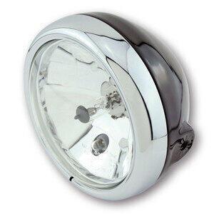 Halogen headlight 5.3/4'' Modern black rim chrome