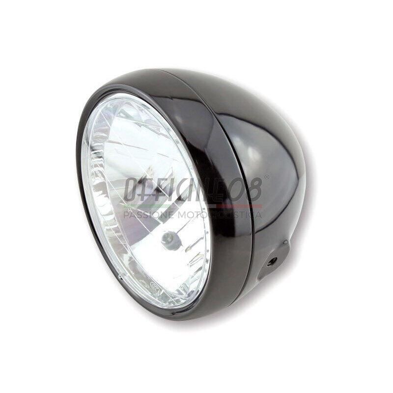 Faro anteriore 6.5'' Classic alogeno nero lucido