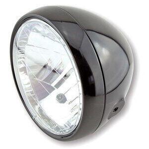 Halogen headlight 6.5'' Classic black polish