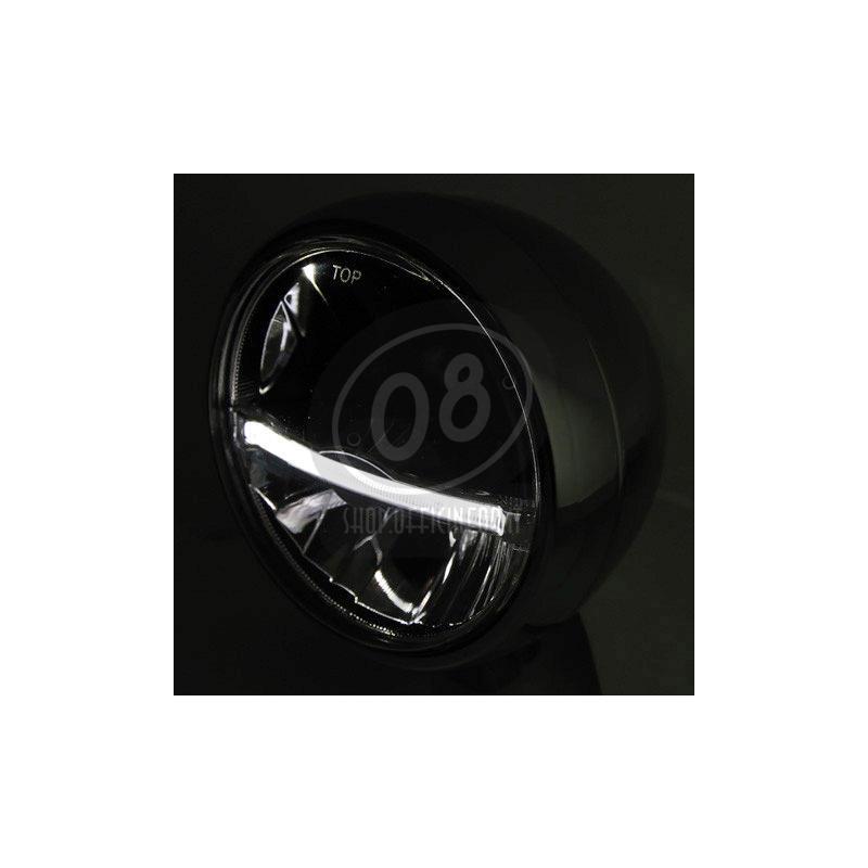 Full led headlight 5.3/4'' Highsider Jackson black matt - Pictures 3