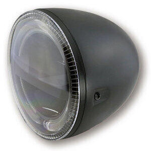 Full led headlight 5.3/4'' Highsider Circle black matt