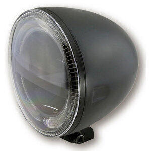 Full led headlight 5.3/4'' Highsider Circle low mounting black matt