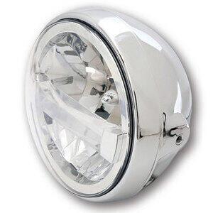 Full led headlight 7'' Highsider British Type4 chrome
