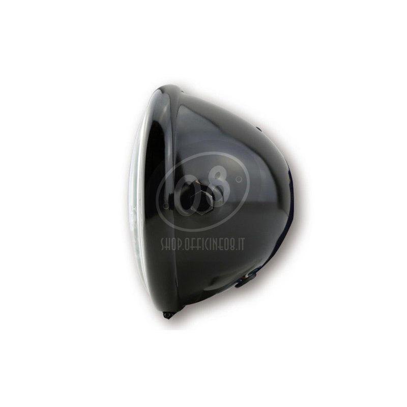 Faro anteriore 5.3/4'' Bates alogeno nero lucido - Foto 2