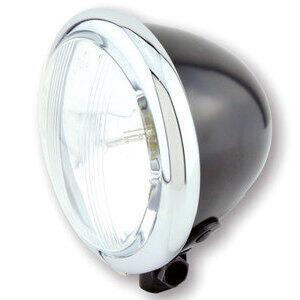 Halogen headlight 4.5'' Bates black polish lens pattern
