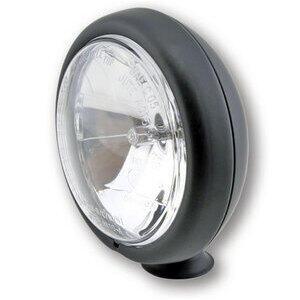 Halogen headlight 4.5'' high beam black matt lens clear