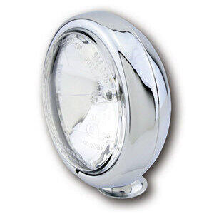 Halogen headlight 4.5'' high beam chrome lens clear