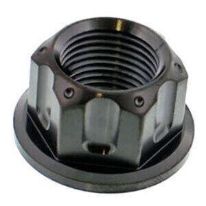 Dado perno ruota M18x1.5 titanio nero