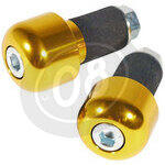 Bar-end weights LSL cylindric 18mm gold
