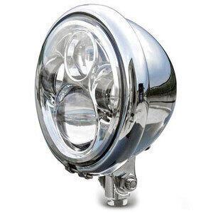 Full led headlight 5.3/4'' Bates low mounting chrome
