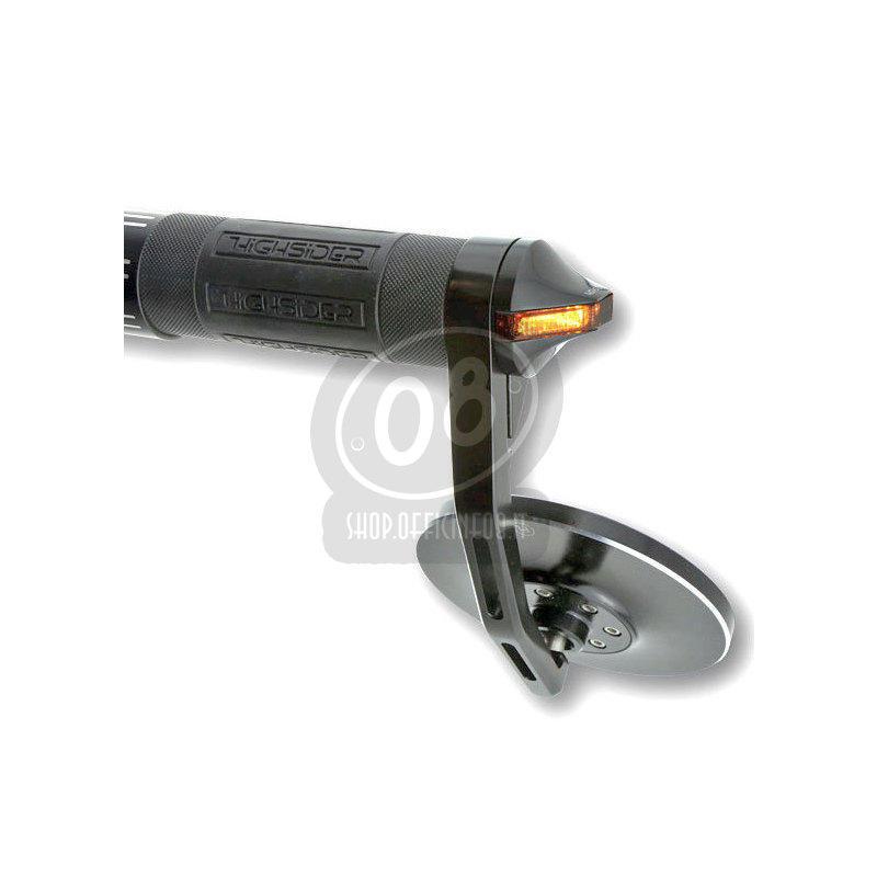 Coppia frecce led bar-end Highsider Flight nero opaco - Foto 4