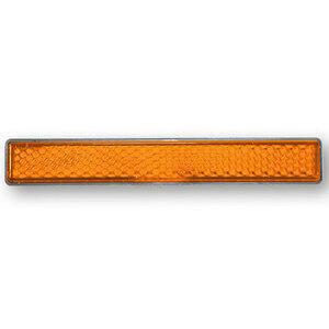 Catarifrangente posteriore 100x13mm autoadesivo arancione