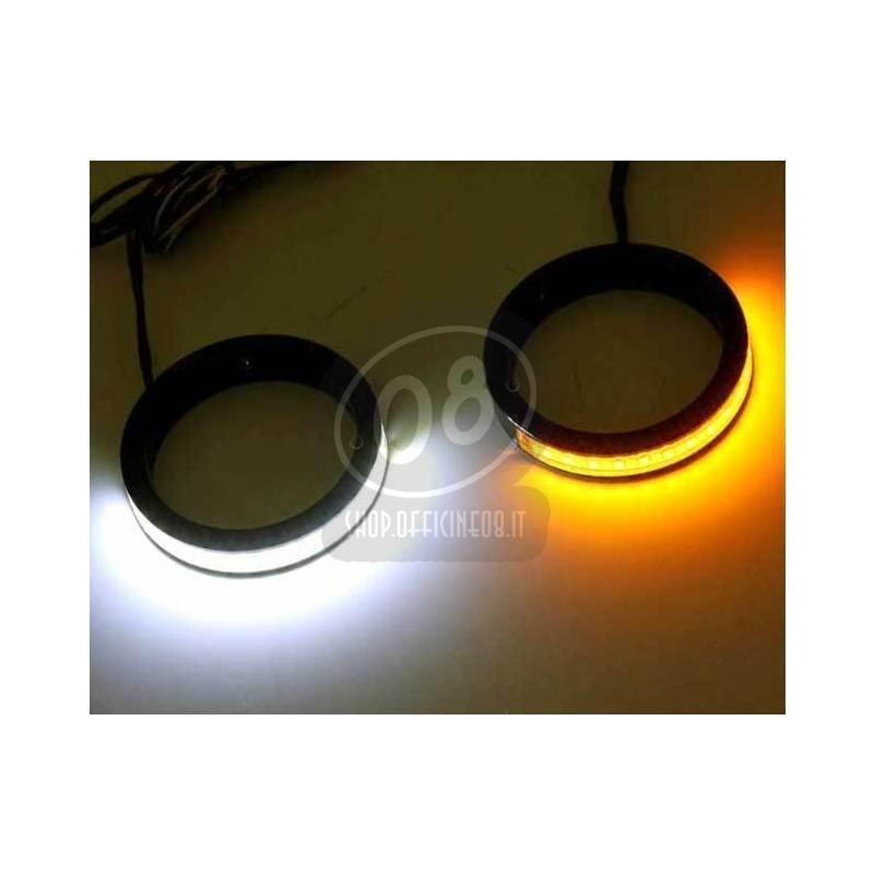 Led fork winkers 41mm black pair - Pictures 2