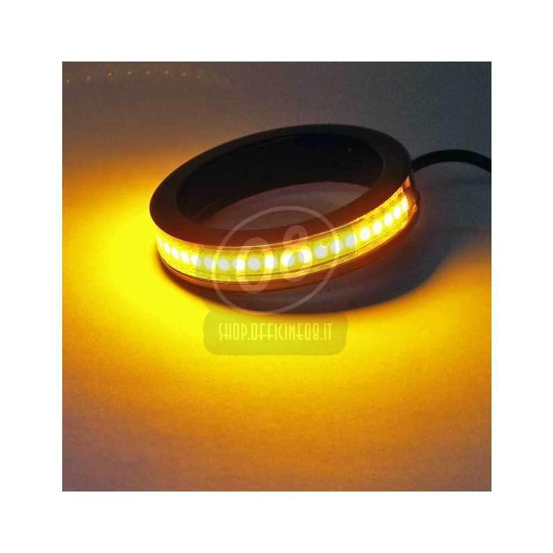 Led fork winkers 43mm black smoked pair - Pictures 4