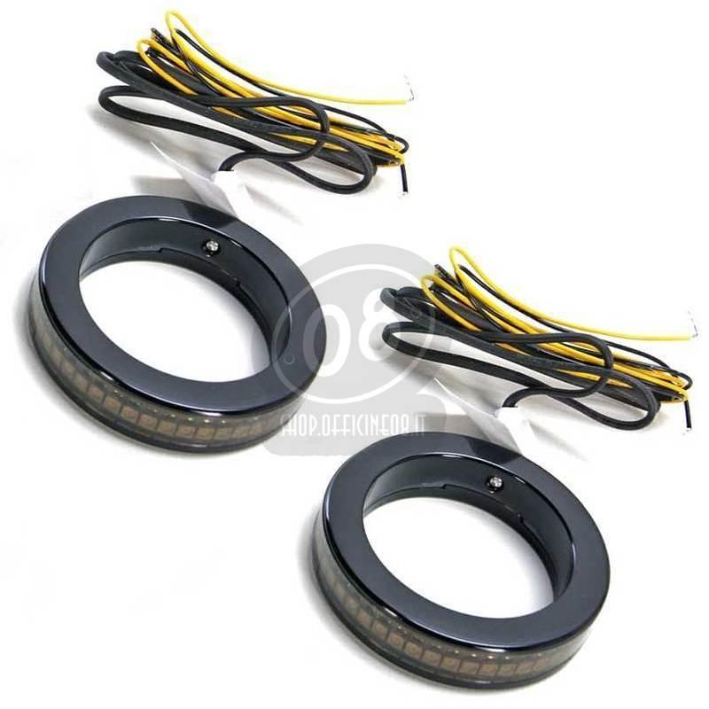 Led fork winkers 43mm black smoked pair - Pictures 2