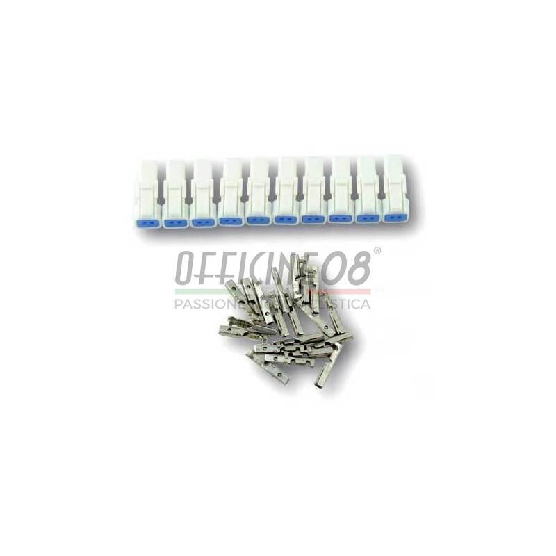 Electrical cable connector male 2 pins set 10pcs waterproof