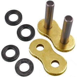 Chain link RK 530 ZXW rivet gold/black