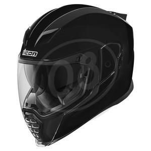 Helmet Icon AirFlite Rubatone black polish