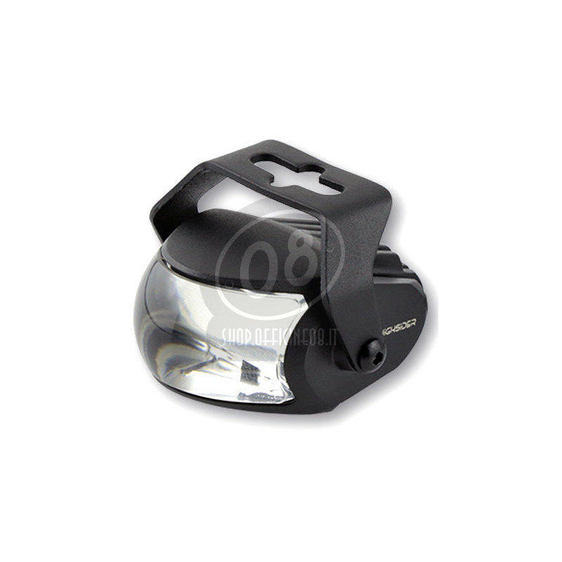 Full led headlight oval Highsider Comet high beam black matt - Pictures 3