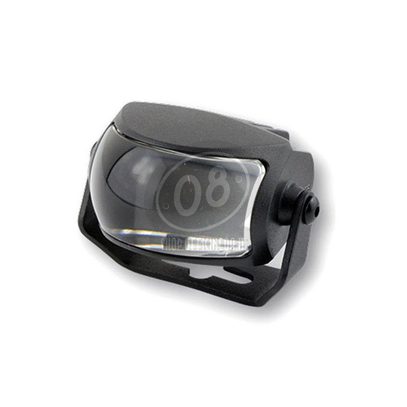 Full led headlight oval Highsider Comet high beam black matt - Pictures 2