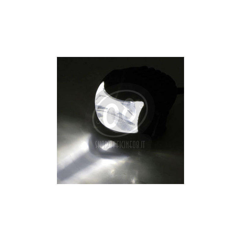 Full led headlight oval Highsider Comet low beam black matt - Pictures 4