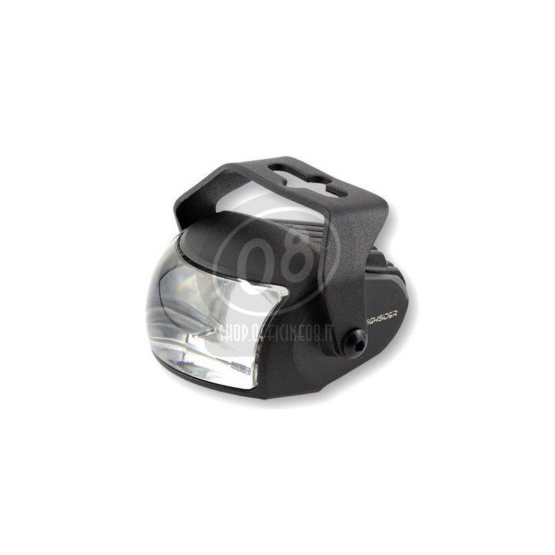 Full led headlight oval Highsider Comet low beam black matt - Pictures 3