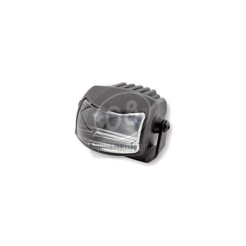 Full led headlight oval Highsider Comet low beam black matt - Pictures 2