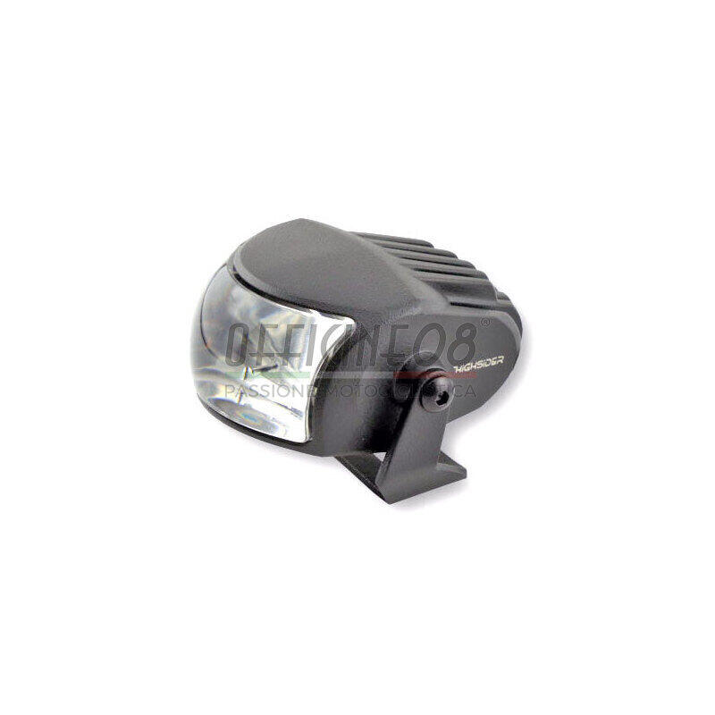 Full led headlight oval Highsider Comet low beam black matt