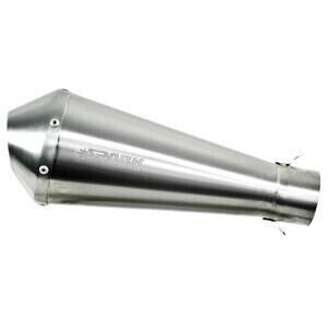 Exhaust muffler Spark Mega 60mm stainless steel satin