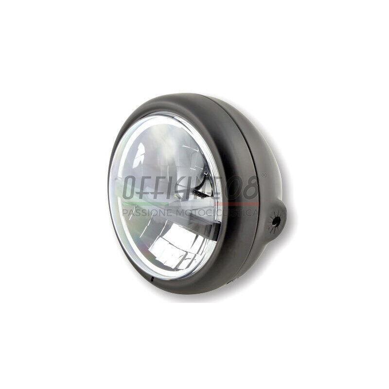 Faro anteriore 5.3/4'' Highsider Pecos Type 5 full led nero opaco