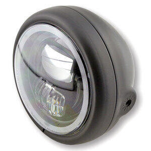 Full led headlight 5.3/4'' Highsider Pecos Type 7 black matt