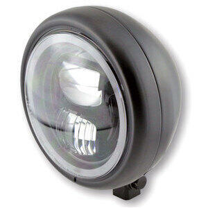 Full led headlight 5.3/4'' Highsider Pecos Type7 low mounting black matt