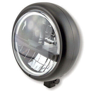 Full led headlight 5.3/4'' Highsider Pecos Type5 low mounting black matt