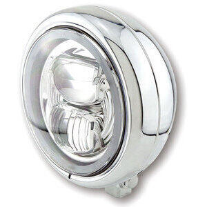 Full led headlight 5.3/4'' Highsider Pecos Type7 low mounting chrome