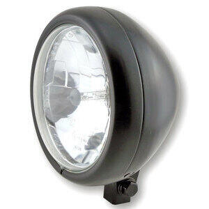 Halogen headlight 5.3/4'' Highsider Pecos black matt
