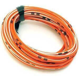 Cavo elettrico 0,82mm arancione/bianco